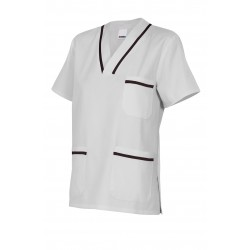 Camisola pijama de manga corta bicolor