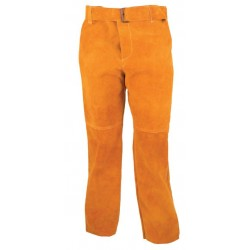 Pantalón en serraje amarillo