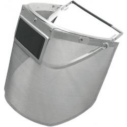 Pantalla rejilla metálica 500 x 250 mm con visor 60 x 120 mm