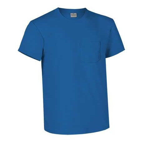 Camiseta cuello redondo con bolsillo de corte clásico,