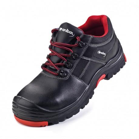 "Zapato mod. ""ADRIANO"". Zapato piel microfibra en S3 con suela doble densidad Poliuretano/Goma Nitrilo."