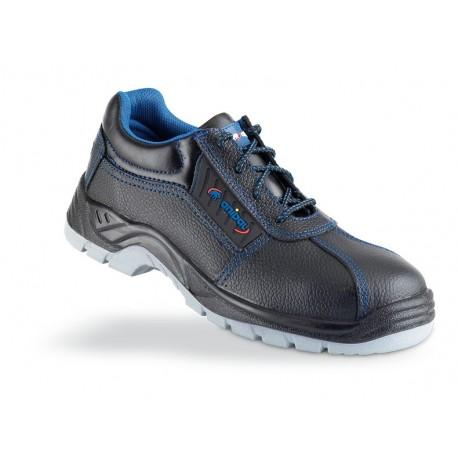 """Zapato piel negra S3 """"Metal Free"""" con suela de Poliuretano doble densidad. Mod. """"TARRACO""""."""