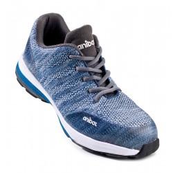 "Zapato mod. ""CRIXO"". Zapato microfibra en S1P. Suela de Poliuretano doble densidad SRC."