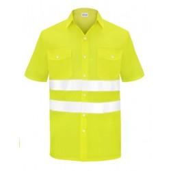 Camisa Manga Corta Dos Bolsillos Alta visibilidad Combinada