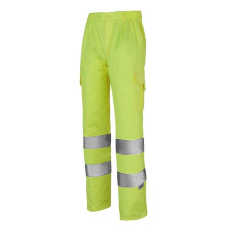Pantalón Multibolsillos Con Forro Alta Visibilidad