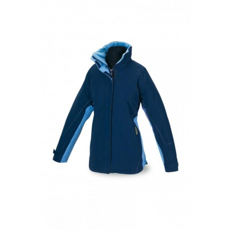 Parka mujer impermeable bicolor