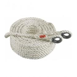 Cuerda torcida de poliamida A.T de 14 mm. Con guardacabos y mosqueton. Miguel Miranda L05 _Mm