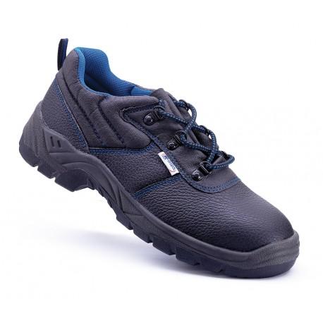 """Zapato piel negra S1P con suela de Poliuretano doble densidad.Mod. """"UXAMA""""."""
