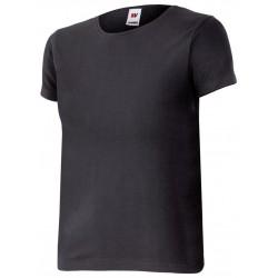 Camiseta de mujer ajustada con manga corta y cuello redondo.