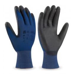 Guante de nylon ultra-fino galga 18 recubrimiento poliuretano color negro - 2111 Marca PL 688-NYPU/U