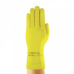 Guantes ECONOHAND látex espesor 0,40 mm., amarillo 305 mm.