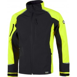 Chaqueta Workshell con interior de rejilla. WorkTeam S9498