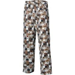 Pantalón estampado con cintura elástica