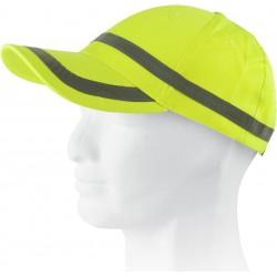 Gorra ajustable en alta visibilidad con franja reflectante horizontal WorkTeam WFA901