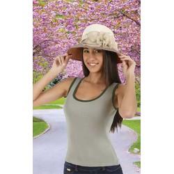 Camiseta de mujer ajustada con tirantes anchos,