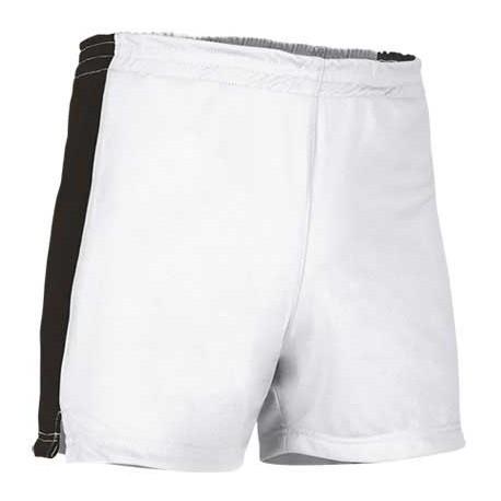 Pantalón deportivo corto bicolor